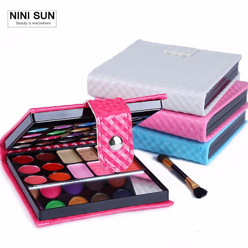 New Make Up Set 32Color Wet Shine Eye shadow Blush Lip Gloss Eyebrow Cosmetic Makeup Palette Set De Maquillaje With Brush Mirror цена