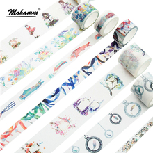Cute Creative Dream Watercolor Painting Japanese Decorative Washi Tape DIY Scrapbooking Masking Tape School Office Supplies