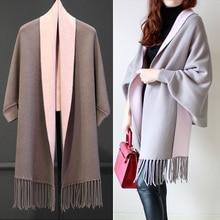 Для беременных женщин, весенний кардиган с длинными рукавами, плотный двойной свитер с кисточками, вязаное пальто для беременных
