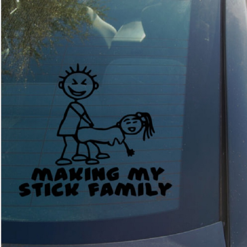 (20 pieces/lot) Wholesale funny Making my stick family vinyl car stickers  decals car styling funny stickers for window wall-in Car Stickers from  Automobiles ...