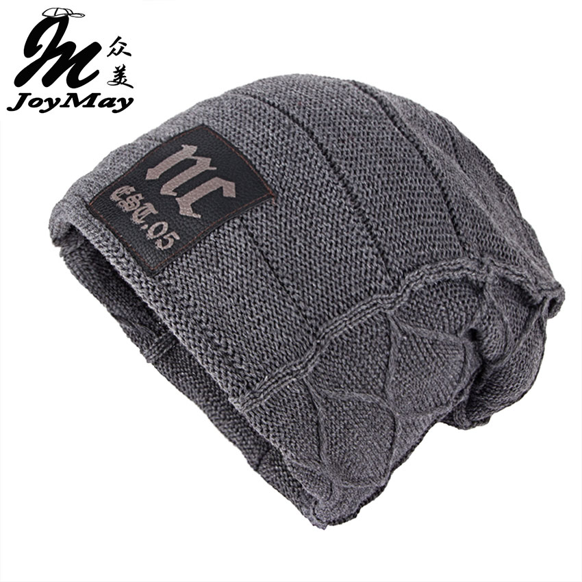 Joymay Unisex Womens Mens S Camping Hat Winter Beanie Baggy Warm Wool Cap Hot WM046 unisex fashion womens mens hat winter beanie baggy warm wool cap hot