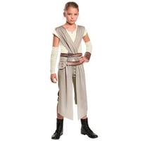 Child Classic Star Wars Jedi Warrior The Force Awakens Rey Fancy Dress Girls Movie Charater Carnival