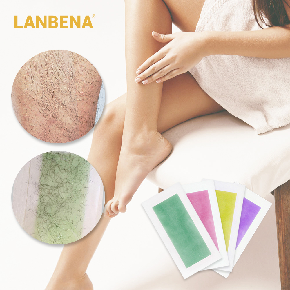Lanbena 20 Pcs 10 Sheets Professional Hair Removal Wax Strips Face