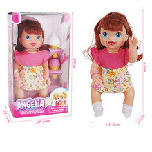35cm New born baby doll full body girls Curly hair Lifelike Doll Play House toy Gift with Ice Cream Pink Dress reborn baby dolls