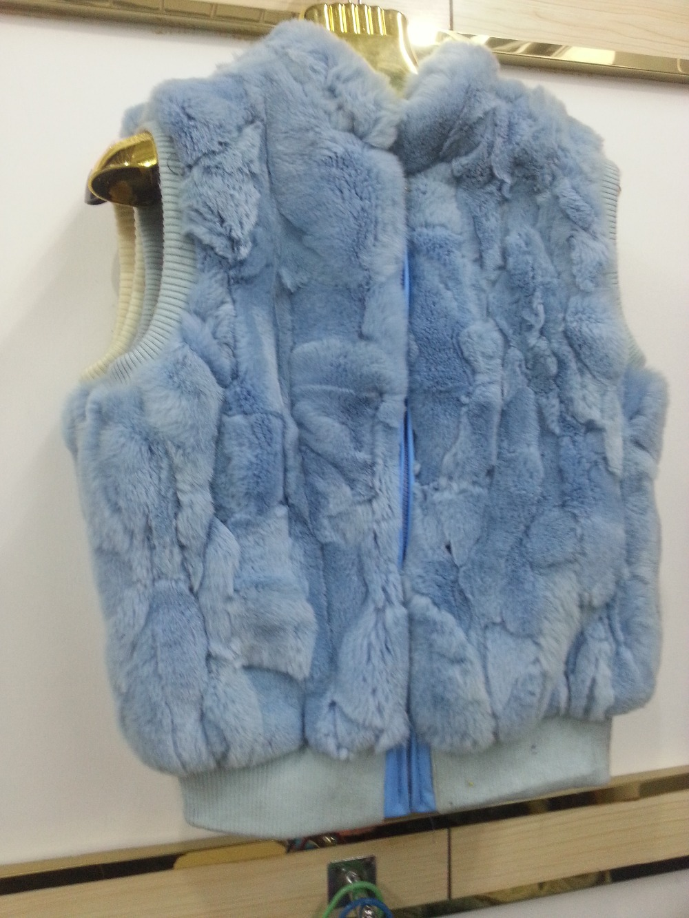 Rabbit hair can spell vests rabbit fur coat Can be customized wholesale