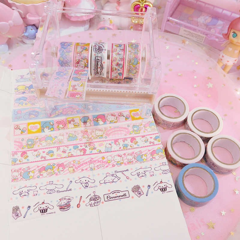 4pcs/pack  Creative Cinnamoroll melody Stickers Diary Label Stickers Pack Decor Scrapbooking DIY Stickers Kids toys