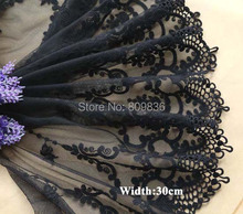 1 Yard/lot Width: 30cm Cotton lace Sewing accessories Embroidered trim lace Beautiful lace for diy(ss-3587-225)