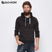 GLO STORY 2018 Men's Basic Front Pockets Hoodies Men Casual Street wear Autumn Winter Fleece Tracksuit Sweat Hooded Coats