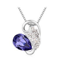 2015 Wholesale SWAROVSKI ELEMENTS Pendant Necklaces Crystal With SWAROVSKI Tear Drop Necklace Fashion Brand Women Gift