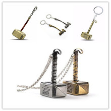 Hot Mixed Men Avengers 3 Thor Axe Hammer keychain Infinity War Thor Hammer Keychain Key Ring Chaveiro Key Chain Wholesale 29cm thor s hammer toys new avengers super heroes thor hammer cosplay toy plastic hammer action figures for kids christmas gifts