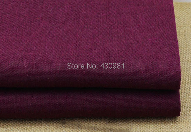 100*140cm Solid Fuchsia Sewing Fabric Cloth Linen Cotton