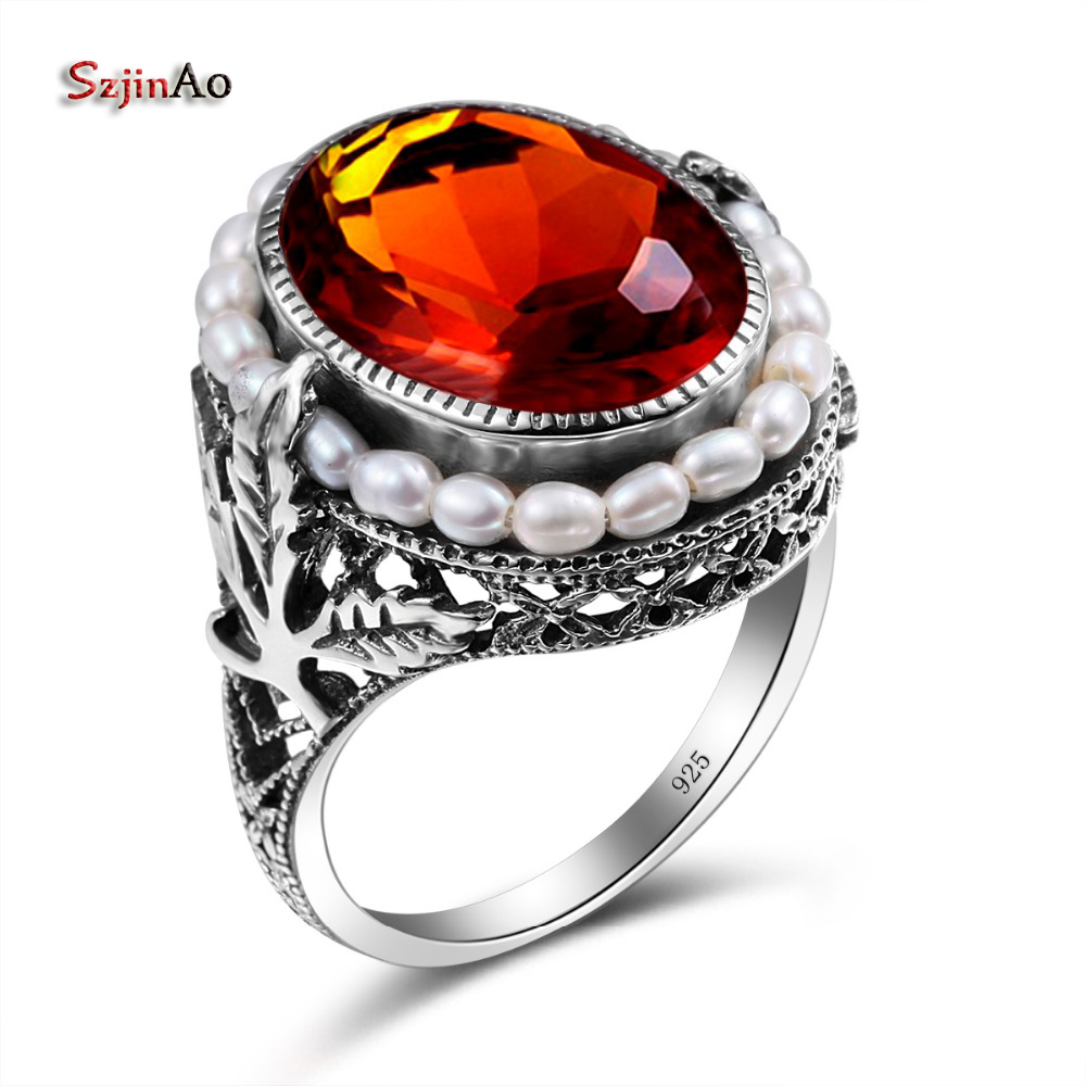 Engagement & Wedding Honey Natural Emerald Ruby Pendant 925 Sterling Silver Women Turkish Fine Jewelry Gift