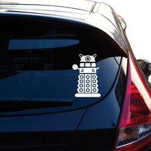 Graphics Dalek Decal Sticker Inspired By the Show Doctor Who for Car Window, Laptop, Motorcycle, Walls, Mirror and More..