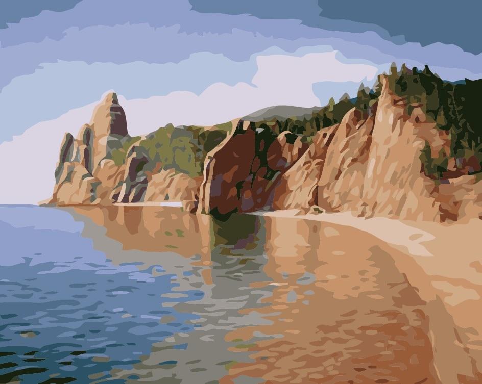frameless il mar seascape pittura di diy dai numeri moderna wall art canvas picture dipinto