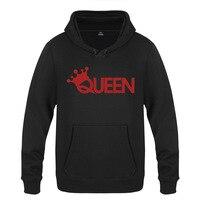 Rock Band Queen Hoodie Cotton Winter Teenages Queen Logo Sweatershirt Pullover With Hood For Men Women