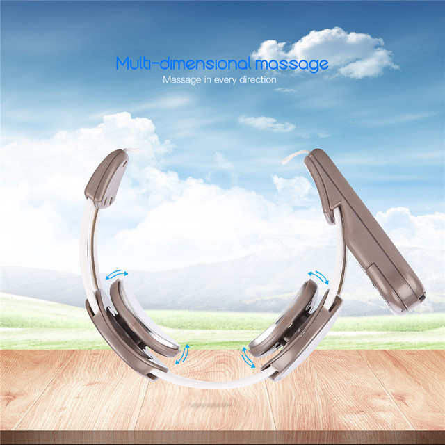 Electric Pulse Neck Massager Cervical Vertebra Multi-Dimensional Massage Device Magnetic Simulate Acupuncture Massage Therapy 0
