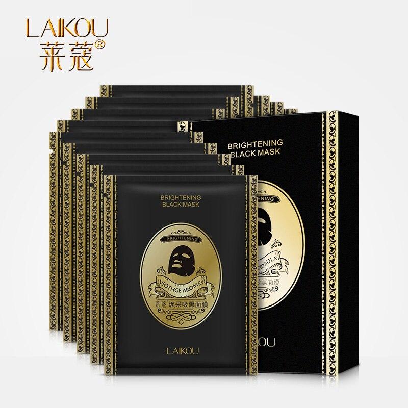 LAIKOU Brand Black Mask For Face Mask Moisturizing Oil Control Blackhead Remover Wrapped Masks Face Face Skin Care Whitening
