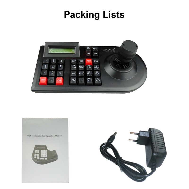 3D PTZ CCTV Keyboard Controller Joystick for RS485 PTZ Speed Dome Camera Bracket Support Pelco D