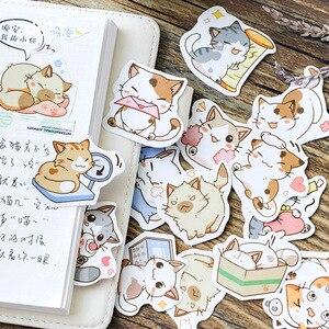 بلدي القط الزخرفية ملصقات ملصقات بمادة لاصقة DIY الديكور مذكرات اليابانية القرطاسية ملصقات الأطفال هدية