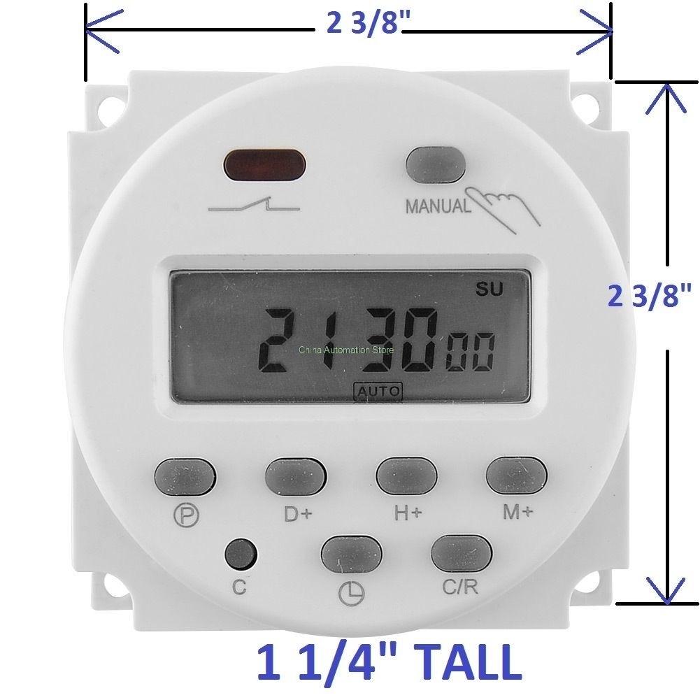 CN101A Temporizador De Alimentación AC Digital LCD Interruptor de tiempo programables Relé temporizadores al aire libre