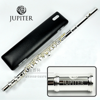 JFL 511ES 16 Holes Closed C Key Flute Cupronickel Silvering Concert Flute Case Cleaning Cloth Stick Gloves Padded Bag