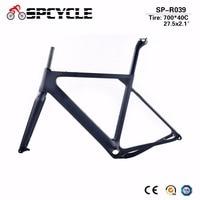 Spcycle Gravel Carbon Bicycle Frames, Cyclocross Gravel Bike Frames, Road MTB Disc Bike Frames 700*40C or 27.5er*2.1 tires