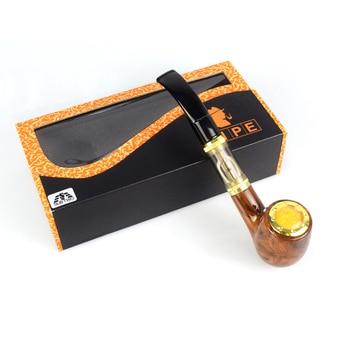 Tobacco Pipe Electronic Cigarette E Pipe 618 Kit Vaporizer kit with 900mAh built in Battery wooden gift box e-cigarette vape kit
