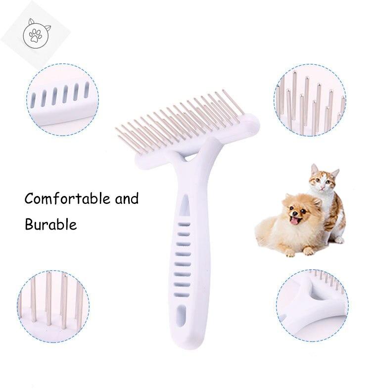 Щетка для собак с короткими и длинными волосами вычесывания