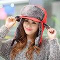 2017 New Arrivals Women Men Warm Winter Hat Solid Color Aviator Hat with Visor Outdoor Ski Riding Cap Waterproof Bomber Hat