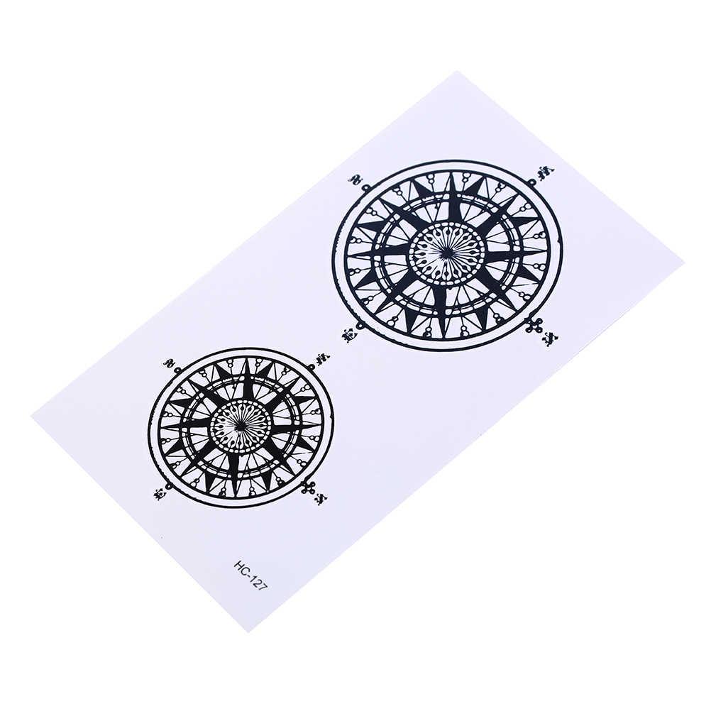 Черный Дворецкий контракт символ компас Татто наклейки водонепроницаемый флэш-тату поддельные татуировки 105x60 мм