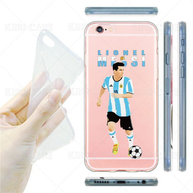 iPhone 6 6s Plus 7 Plus Famous Messi Neymar Griezmann Fotball Star Pattern Shell Transparent Soft Silicone TPU Phone Case