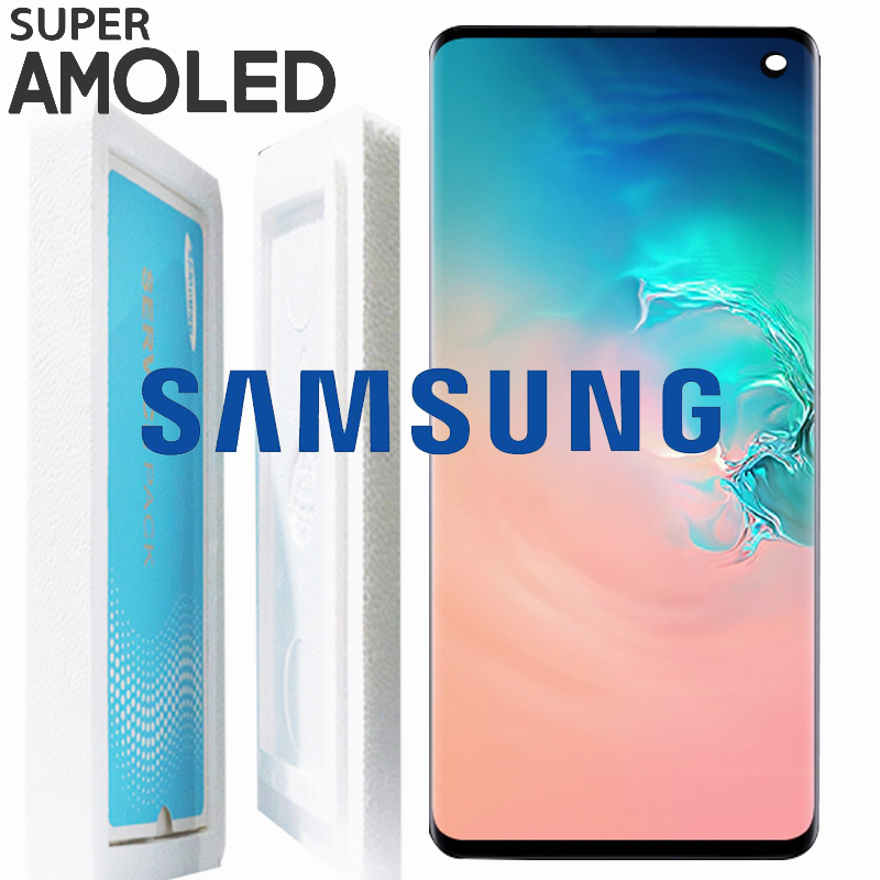 NEW ORIGINAL LCD with Frame for SAMSUNG Galaxy S10 G9730 Display S10 Plus G9750 Touch Screen