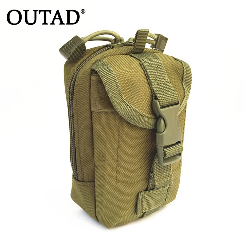 OUTAD Multifunction Tactical Bag Zipper Closure Small Tools Holder Nylon Hunting Waist P ...