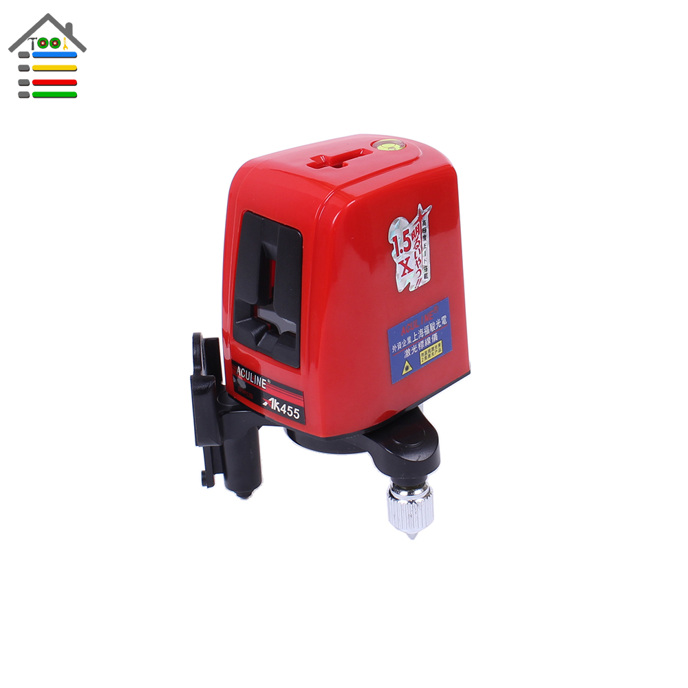 High Quality New AK455 360 Degree Self-leveling Double Cross Laser Level Leveler Red 2 Line 1 Point with Cloth Bag 100mw650nm cross red laser head high power red positioning marking instrument high quality