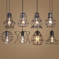 Loft Vintage Iron Pendant Light Industrial Retro LED Droplight Bar Cafe Restaurant American Country Style Hanging