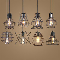 Loft Vintage Iron Pendant Light Industrial Retro LED Droplight Bar Cafe Restaurant American Country Style Hanging
