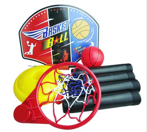 Free Shipping Kids Basketball Goal Stand Hoop Set with Ball / Pump Boys Outdoors Sports Toy Children Basket