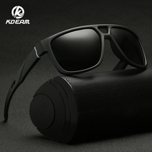 KDEAM Unisex Transparent Square Sunglasses Men Polarized Night Vision Glasses for Women Driving Shades KD138