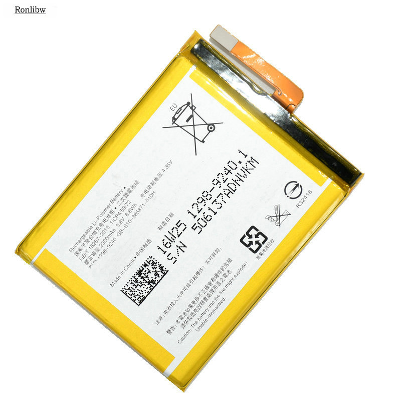 Ronlibw 5PCS 2300mAh LIS1618ERPC Replacement <font><b>battery</b></font> for Sony <font><b>Xperia</b></font> <font><b>XA</b></font> F3111 E5 F3113 F3116 F3115 F3311 F3112 F3313 G8232 image
