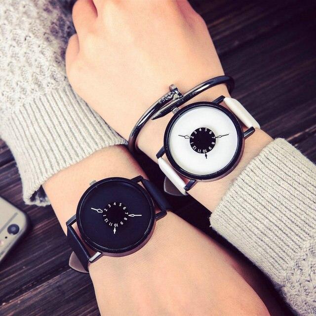 Brand luxury fashion creative watches women men quartz-watch unique dial design