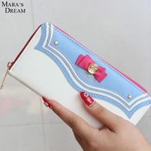 Mara's Dream 2017 New Ladies Cartoon Bow-tie Sailor Moon Long Zipper Female Bag Women Brand Leather Kawaii Wallet Purse
