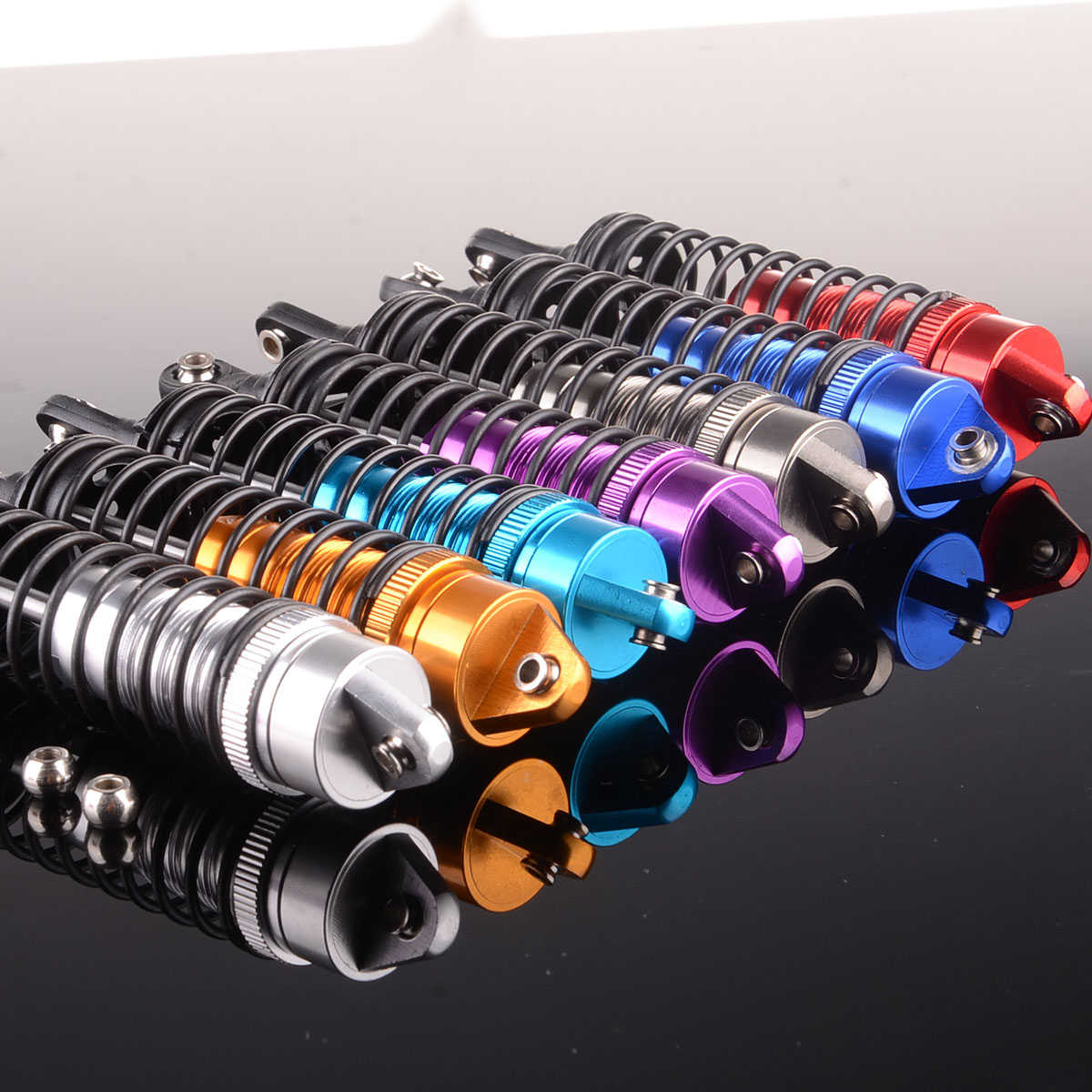 Body Parts & Interior 2pcs RC 100mm Aluminum Front shock