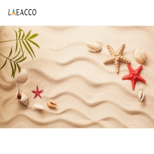 Laeacco Seaside Sand Shell Photography Baby Children Background Beach Starfish Scene Seamless Photographic Studio Photo Backdrop