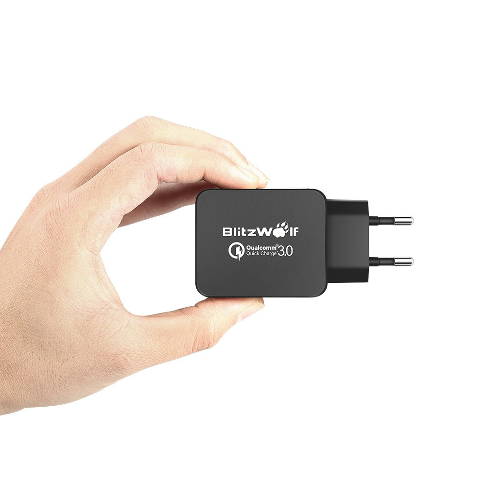 BlitzWolf מסעות מטען קיר טעינה מהירה 3.0 USB מטען מתאם האיחוד האירופי תקע אמריקאי 18W אוניברסלי מטען לטלפון נייד עבור Iphone 6 7