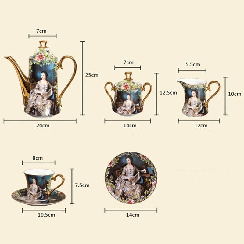 Image 5 - YeFine Bone Porcelain Coffee Sets 15 PCS Wedding Gift With Coffee Pot Coffee Cups And Saucers Sugar Bowl Milk Jug Ceramicporcelain bowl setporcelain setset bowls -