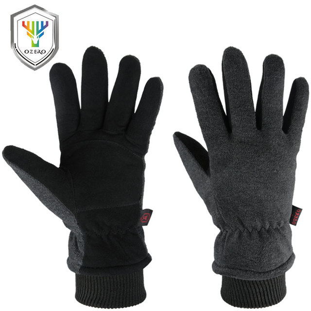 Motorcycle Gloves, Genuine Deerskin, Cold-Proof