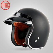 TORC casco de moto de la motocicleta de La Vendimia casco de motocross Capacete casco jet open face retro scooter casco Protector DOT T50