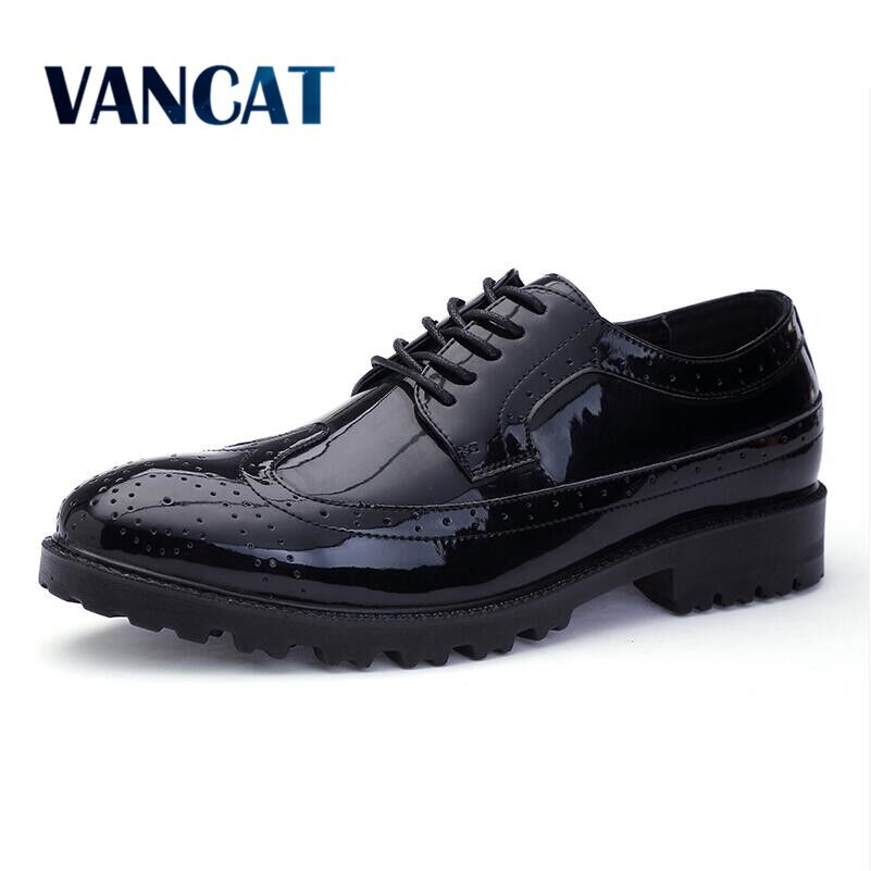 VANCAT Spring Autumn Men Formal Wedding Shoes Luxury Men Business Dress Shoes Men Loafer ...