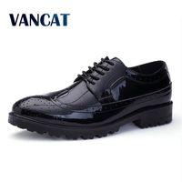 VANCAT Spring Autumn Men Formal Wedding Shoes Luxury Men Business Dress Shoes Men Loafers Pointy Shoes
