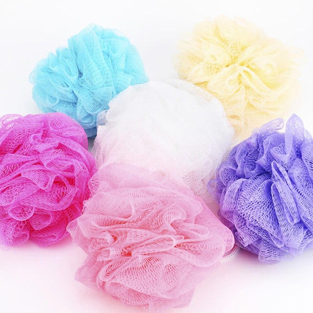 1pc Bath Ball Tubs Scrubber Shower Body Cleaning Mesh Nylon Sponge Rich Bubbles Body Loofah Massage Shower Scrubber Randomly